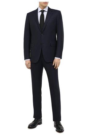 Мужской шерстяной костюм ERMENEGILDO ZEGNA темно-синего цвета, арт. E22617/22122C | Фото 1