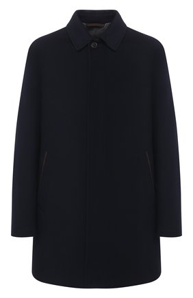 Мужской шерстяное пальто ERMENEGILDO ZEGNA темно-синего цвета, арт. U7T02/TMIL31 | Фото 1