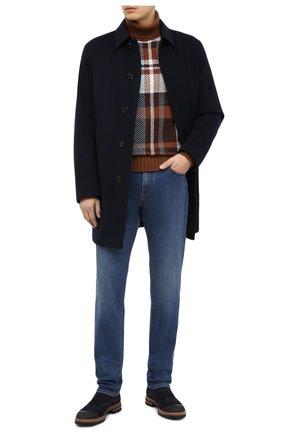 Мужской шерстяное пальто ERMENEGILDO ZEGNA темно-синего цвета, арт. U7T02/TMIL31 | Фото 2