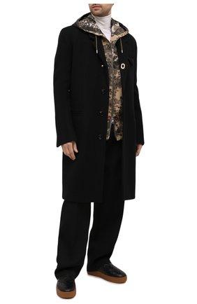 Мужские кожаные слипоны BOTTEGA VENETA черного цвета, арт. 639736/V02X0 | Фото 2 (Материал внутренний: Текстиль, Натуральная кожа; Стили: Кэжуэл)