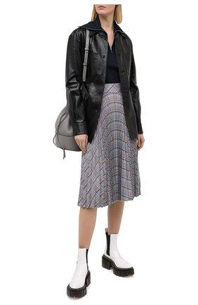 Женская кожаная рубашка MARNI черного цвета, арт. CAMX0342A0/LA730 | Фото 2