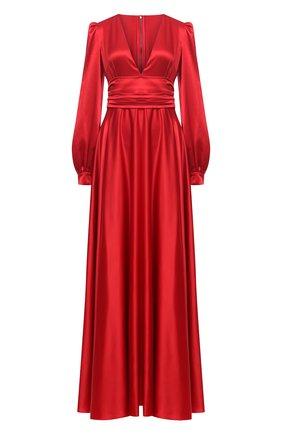 Женское шелковое платье DOLCE & GABBANA красного цвета, арт. F6K2PT/FU1NG | Фото 1