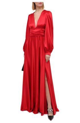 Женское шелковое платье DOLCE & GABBANA красного цвета, арт. F6K2PT/FU1NG | Фото 2