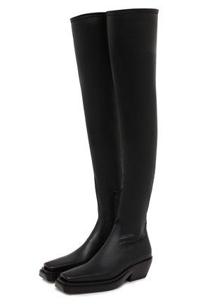 Женские кожаные ботфорты bv lean BOTTEGA VENETA черного цвета, арт. 639832/V00M1 | Фото 1