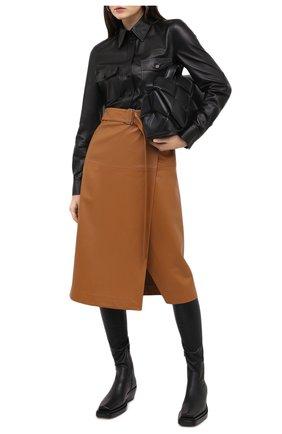 Женские кожаные ботфорты bv lean BOTTEGA VENETA черного цвета, арт. 639832/V00M1 | Фото 2