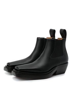 Женские кожаные ботинки bv lean BOTTEGA VENETA черного цвета, арт. 639830/V00M0 | Фото 1