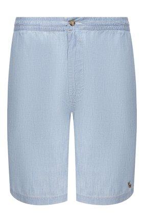 Мужские хлопковые шорты POLO RALPH LAUREN голубого цвета, арт. 711798885/PRL BS | Фото 1
