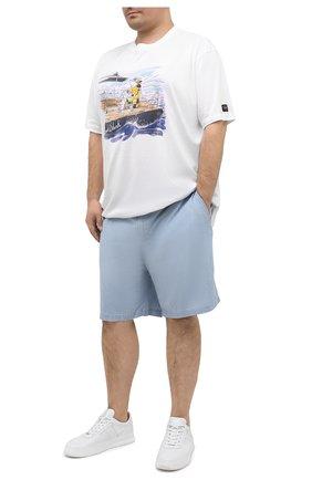 Мужские хлопковые шорты POLO RALPH LAUREN голубого цвета, арт. 711798885/PRL BS | Фото 2