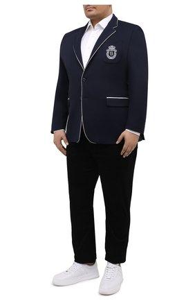 Мужской пиджак из вискозы и хлопка BILLIONAIRE темно-синего цвета, арт. W20C MRF1268 BTE004N   Фото 2