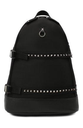 Мужской текстильный рюкзак valentino garavani rockstud VALENTINO черного цвета, арт. UY2B0995/HUZ | Фото 1