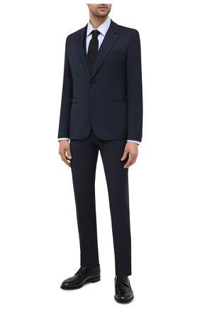 Мужской шерстяной костюм-тройка HUGO темно-синего цвета, арт. 50440371 | Фото 1