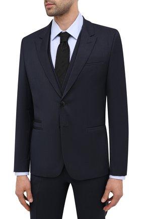 Мужской шерстяной костюм-тройка HUGO темно-синего цвета, арт. 50440371 | Фото 2