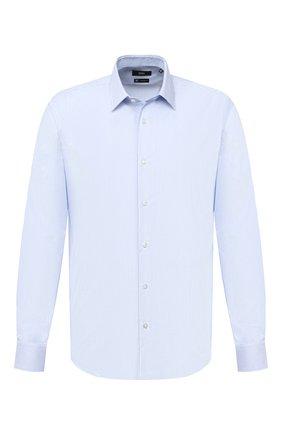 Мужская хлопковая сорочка BOSS голубого цвета, арт. 50439300 | Фото 1
