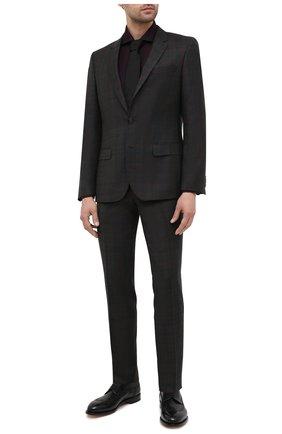 Мужской шерстяной костюм HUGO темно-зеленого цвета, арт. 50440189 | Фото 1