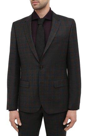 Мужской шерстяной костюм HUGO темно-зеленого цвета, арт. 50440189 | Фото 2