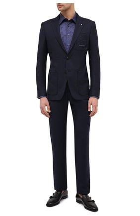 Мужская хлопковая рубашка BILLIONAIRE темно-синего цвета, арт. O20C MRP1391 BTE002N | Фото 2