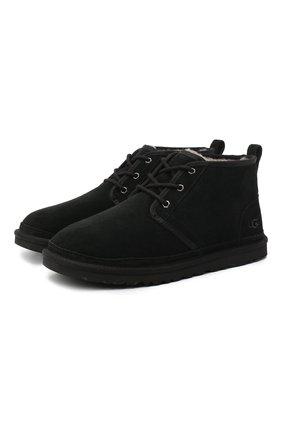 Мужские замшевые ботинки neumel UGG черного цвета, арт. 3236_BLK   Фото 1