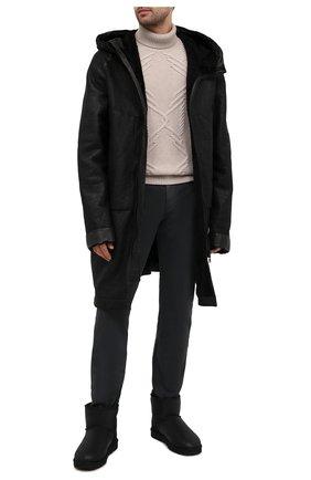 Мужские кожаные сапоги classic mini bomber UGG черного цвета, арт. 1007307_BJB | Фото 2