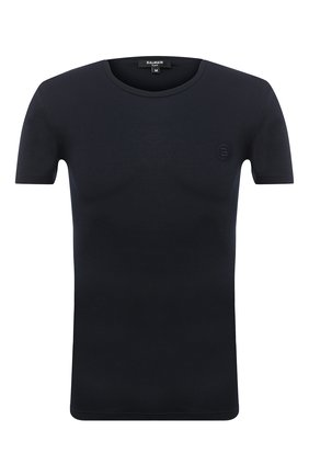 Мужская футболка BALMAIN темно-синего цвета, арт. BRM4A5120 | Фото 1