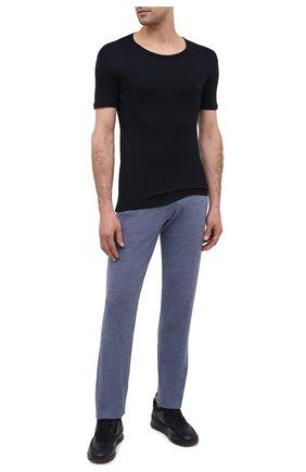 Мужская футболка BALMAIN темно-синего цвета, арт. BRM4A5120 | Фото 2