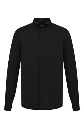 Мужская хлопковая сорочка CORNELIANI черного цвета, арт. 86P191-0811082/00 | Фото 1