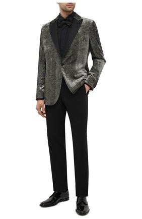 Мужская хлопковая сорочка CORNELIANI черного цвета, арт. 86P191-0811082/00   Фото 2
