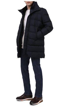 Мужские кожаные кроссовки SANTONI бордового цвета, арт. MBEN21167BGAEG0DB66   Фото 2