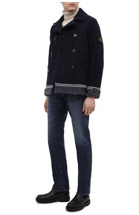 Мужские кожаные челси SANTONI черного цвета, арт. MGSM17340NNNKLUAN51 | Фото 2 (Материал внутренний: Текстиль, Натуральная кожа; Подошва: Массивная)