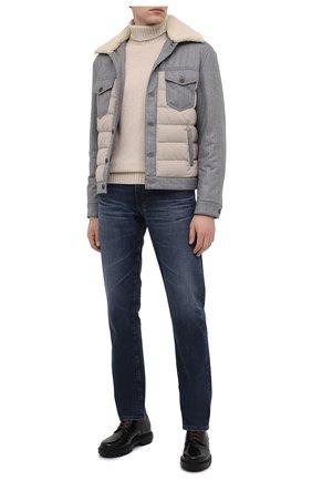 Мужской кожаные дерби SANTONI черного цвета, арт. MGSM17417NNAKN0VN01 | Фото 2
