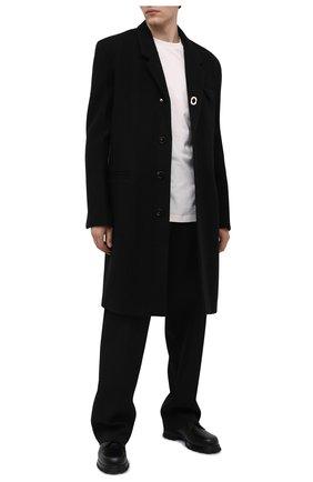 Мужской кожаные дерби JIL SANDER черного цвета, арт. JI35501A-12232 | Фото 2