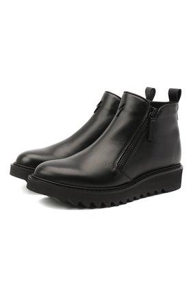 Мужские кожаные сапоги GIUSEPPE ZANOTTI DESIGN черного цвета, арт. IU00046/001 | Фото 1