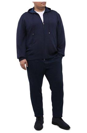 Мужская шерстяной кардиган CANALI синего цвета, арт. C0718B/MK00982 | Фото 2