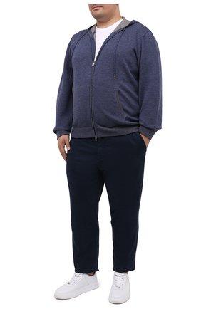Мужская шерстяной кардиган CANALI голубого цвета, арт. C0718B/MK00982 | Фото 2