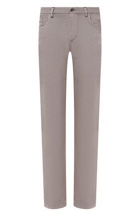 Мужские хлопковые брюки ZILLI бежевого цвета, арт. M0U-D0160-C0TE1/R001 | Фото 1 (Длина (брюки, джинсы): Стандартные; Материал внешний: Хлопок; Случай: Повседневный; Стили: Кэжуэл)