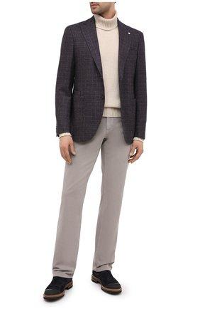 Мужские хлопковые брюки ZILLI бежевого цвета, арт. M0U-D0160-C0TE1/R001 | Фото 2 (Длина (брюки, джинсы): Стандартные; Материал внешний: Хлопок; Случай: Повседневный; Стили: Кэжуэл)