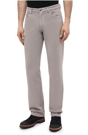 Мужские хлопковые брюки ZILLI бежевого цвета, арт. M0U-D0160-C0TE1/R001 | Фото 3