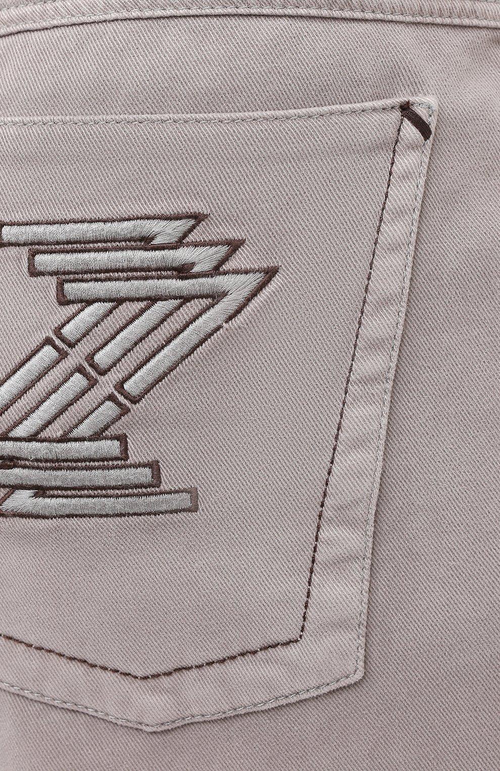Мужские хлопковые брюки ZILLI бежевого цвета, арт. M0U-D0160-C0TE1/R001 | Фото 5