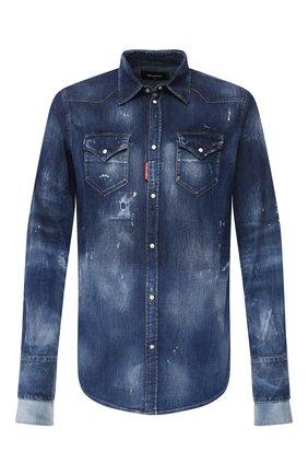 Мужская джинсовая рубашка DSQUARED2 синего цвета, арт. S71DM0423/S30341 | Фото 1