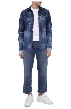 Мужская джинсовая рубашка DSQUARED2 синего цвета, арт. S71DM0423/S30341 | Фото 2