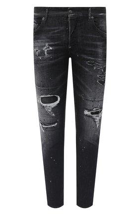 Мужские джинсы DSQUARED2 черного цвета, арт. S71LB0841/S30503 | Фото 1