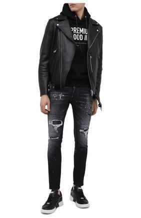 Мужские джинсы DSQUARED2 черного цвета, арт. S71LB0841/S30503 | Фото 2
