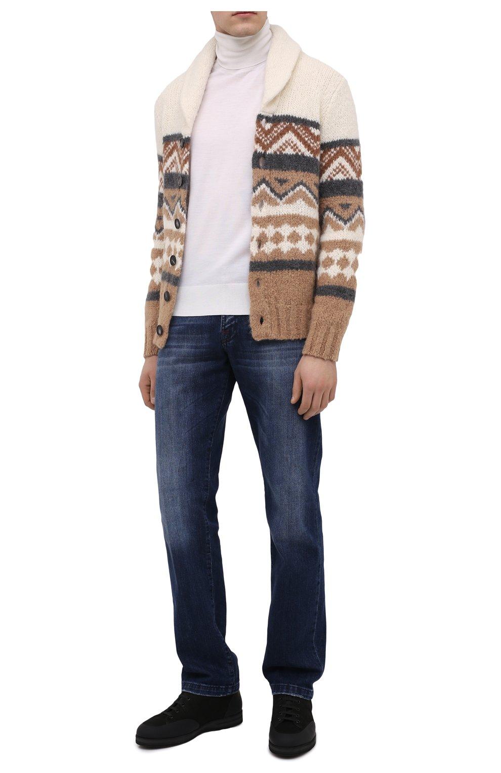 Мужские кожаные кроссовки ZILLI черного цвета, арт. MDU-T134/001 | Фото 2