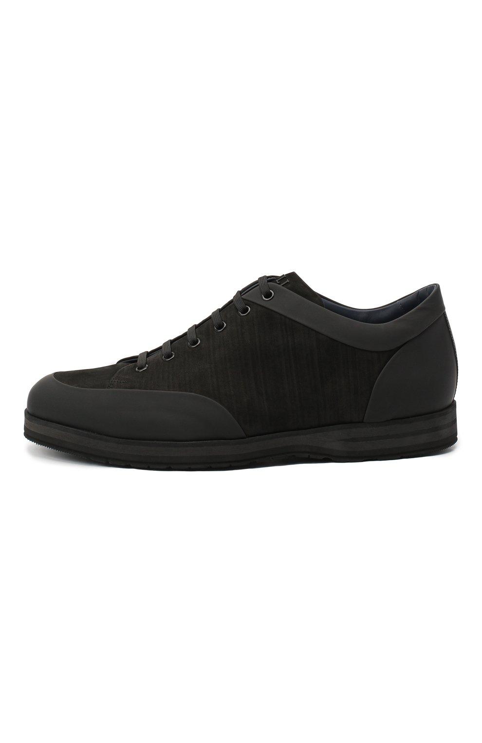 Мужские кожаные кроссовки ZILLI черного цвета, арт. MDU-T134/001 | Фото 3