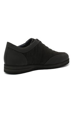 Мужские кожаные кроссовки ZILLI черного цвета, арт. MDU-T134/001 | Фото 4