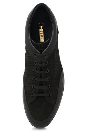 Мужские кожаные кроссовки ZILLI черного цвета, арт. MDU-T134/001 | Фото 5