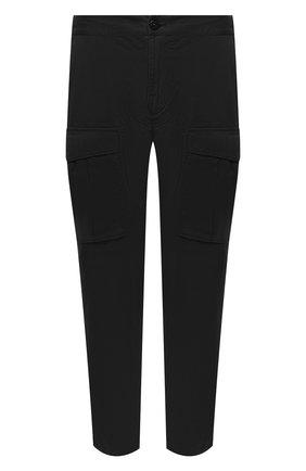 Мужской хлопковые брюки-карго STONE ISLAND черного цвета, арт. 731530710 | Фото 1