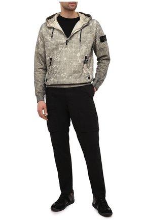 Мужской хлопковые брюки-карго STONE ISLAND черного цвета, арт. 731530710 | Фото 2