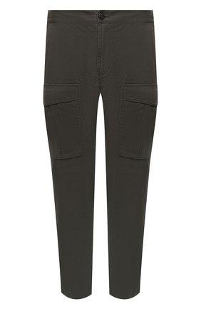 Мужской хлопковые брюки-карго STONE ISLAND зеленого цвета, арт. 731530710 | Фото 1