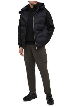 Мужской хлопковые брюки-карго STONE ISLAND зеленого цвета, арт. 731530710 | Фото 2