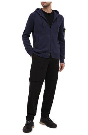 Мужская шерстяной кардиган STONE ISLAND темно-синего цвета, арт. 7315501A3 | Фото 2